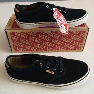 NWT Vans Black Suede Shoes